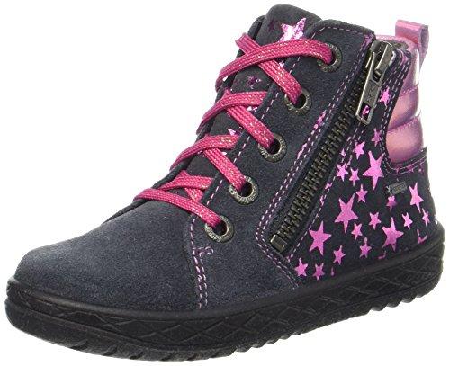 Superfit Mädchen Mercury Hohe Sneaker, Grau (Charcoal Kombi), 31 EU Mädchen Schuhe Leder