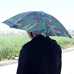 Image® Army Green Pêche Chasse tête Camping parapluie anti-UV parapluie pluie