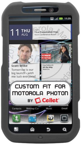 Cellet Proguard Schutzhülle für Motorola Photon 4G, Schwarz (Sprint Motorola Photon)