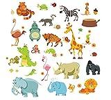 Aufkleber Wand Tiere Dschungel für Schlafzimmer Kinder Babyphone GUARDERIAS von Open Buy