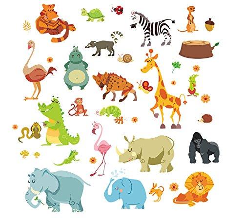 Open Buy Autocollants muraux motif d'animaux pour chambre d'enfant et de bébé