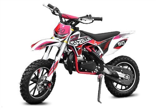 Dirtbike 49cc Gazelle E-Start Edition Tuning Vergaser Cross Bike Atv Quad (Grün)