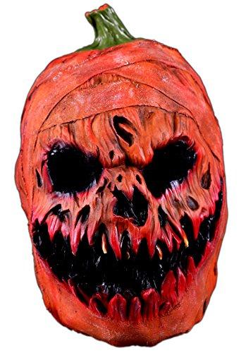 Thetru Kürbis-Maske in Orange | Einheitsgröße Erwachsene | Halloween-Maske Horror-Maske aus Latex (Maske Halloween Kürbis)