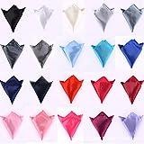 Unbekannt SOT 30Farbe Herren, Seide Taschentuch Einstecktuch Polyester quadratisch Satin für Hochzeit Party Valentinstag 22x 22cm Geschenk-Box