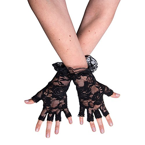 GLOVES FINGERLESS LACE ADULT