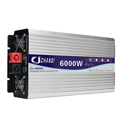 Tutoy Intelligent Screen Pure Sinus Power Inverter 12V/24V Bis 220V 3000W/4000W/5000W/6000W Converter24V 6000W - 50hz Power Inverter