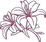 GRAZDesign Lilien Bild - Wandtatoo Blume für Schlafzimmer über Bett - Küche für Küchenzeile - Wohnzimmer an die Wand / 55x50cm / 560021_50_821
