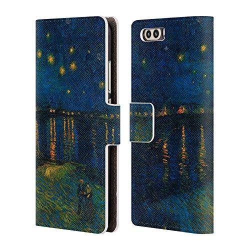 Offizielle Masters Collection Starlight Over The Rhone Bilder 2 Brieftasche Handyhülle aus Leder für Huawei P10