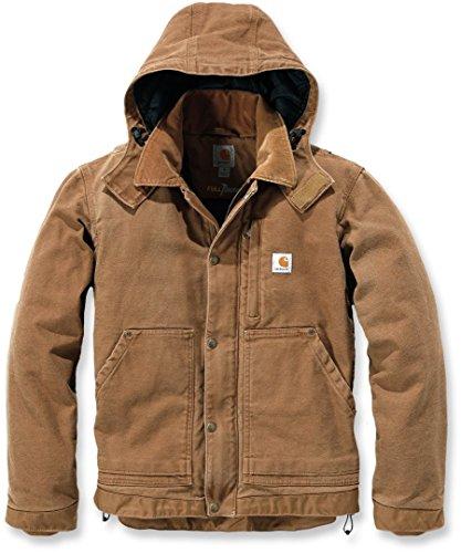Jacke für Herren aus Stoff Modell Carhartt 102358 Sandstone Caldwell Full Swing Braun Jacket Brown Größe L