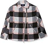Armani Jeans Damen Jacke Caban Coat, Grau (Quadro Grigio Antrac 29QC), 42