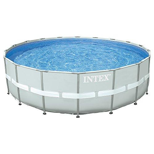 Intex Ensemble pour Piscine à Cadre, 28332 Ultra Rondo, Filtre à Sable 6.056l/H, échelle, Bâche de Protection, Tapis de Sol, 549 x 132 cm