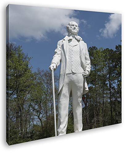 Statur des Sam Houston Format: 70x70 als Leinwandbild, Motiv fertig gerahmt auf Echtholzrahmen, Hochwertiger Digitaldruck mit Rahmen, Kein Poster oder Plakat -