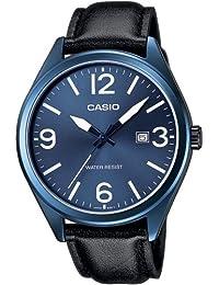 Casio MTP-1342L-2BEF - Reloj analógico de cuarzo para hombre con correa de piel, color negro