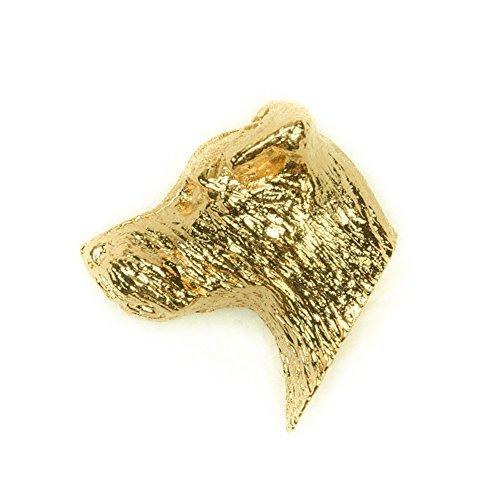 Parson Jack Russell Terrier Hergestellt in U.K. Kunstvolle Hunde- Anstecknadel Sammlung (22 Karat Vergoldung / gold plattiert) (Miniatur Jack-russell-terrier)