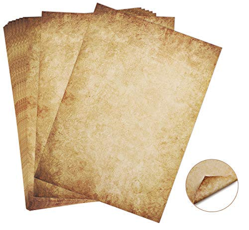 60 fogli di Carta nel Set Cancelleria Antico VintageDIN A4100g/m² Absofine DIY