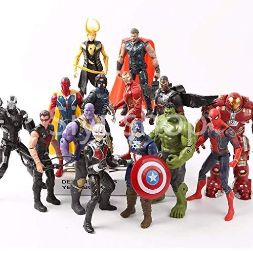 Siyushop Helden-Action-Figuren - Heldenfiguren-Modell-Set , Heldenpuppe Ornamente Handmodell Spielzeugpuppe - 15 Modelle ( Color : 15 Models ) -