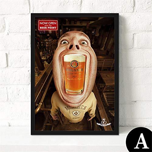zgmtj Helado Gratis Cerveza Libre Aquí Pintura d Hombre Grafiti Belle