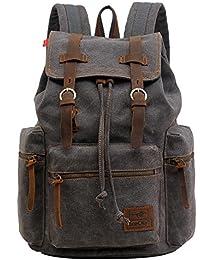 Ecocity Unisex Vintage Lonas Laptop Backpack Rucksack Mochila Escolar