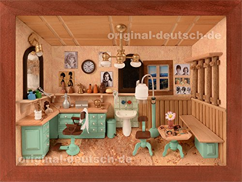 3D Holzbild Friseur, lasiert - Geschenk für Friseur, Friseurmeister, Friseuse, Friseurin