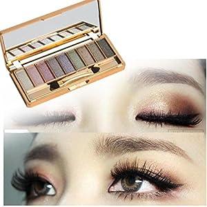 Xinantime 9couleurs Shimmer Fard à paupières Palette & Lot de brosse Cosmétique de maquillage
