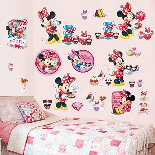Kibi XXL Wandtattoo Mickey Mouse Wandtattoo Mickey und Minnie Wandaufkleber Mickey Mouse wandsticker Mickey Maus Wandsticker Kinderzimmer Micky Mouse Aufkleber Wanddeko Wandsticker Minnie Maus