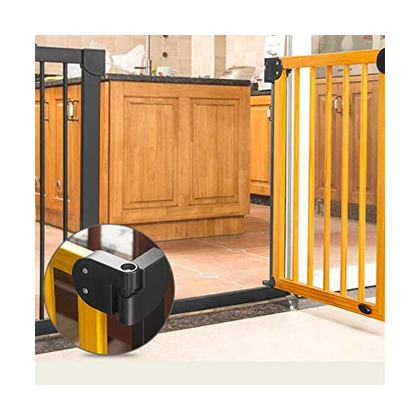 Trip Beechwood Safety Gate Baby child safety gate bar baby stairway fence pet fence dog fence isolation punch-free AA-SS-Safety Door ✿Adaptable :Convenient walk through design with safety locking feature. ✿Easy one-hand open handle:The gates convenient design allows adults to walk through by simply sliding the safety lock back and lifting. ✿Easy to use: Pressure mount design that is quick to set up. No tools required and is gentle on walls. 4