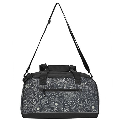Ultra KOMPAKTE Sporttasche Schulsport Fitneßtasche von KEANU Tasche für Damen Mädchen Jungen Herren 14 Liter Volumen, Reflektor Streifen