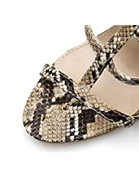 Honestyi Scarpe con Tacco a Spillo Donna Sandali Estivi Eleganti Classico  High Heels Shoes da Sposa 2fee0b55601