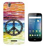 553 - Colourful Peace Sign Designer Fashion Design Acer