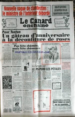 CANARD ENCHAINE [No 3680] du 08/05/1991 ...