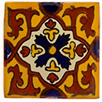 Azulejos Mexicanos Artesanales de Talavera de 10.5cm – Pack de 10