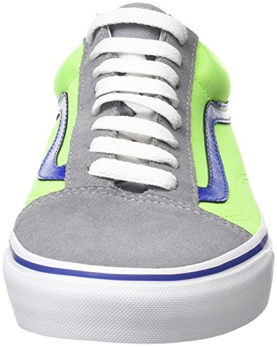 Vans Old Skool Scarpe De Skater, Basse, Unisexe, Adulto Multicolore (brite Givre Gris / Vert Fluo)