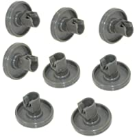 ELECTROHOGAR® - Roulettes Lave Vaisselle – 8 Roues pour Panier Inférieur – Faure, Zanussi, AEG, Electrolux, Ikea …
