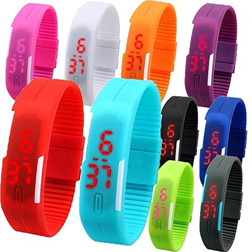 ROYALS LED Silicone Sports Wristband Watch (Color may vary)