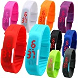 ROYALS LED Watch for Kids - Pack of 6 (Multicolour)
