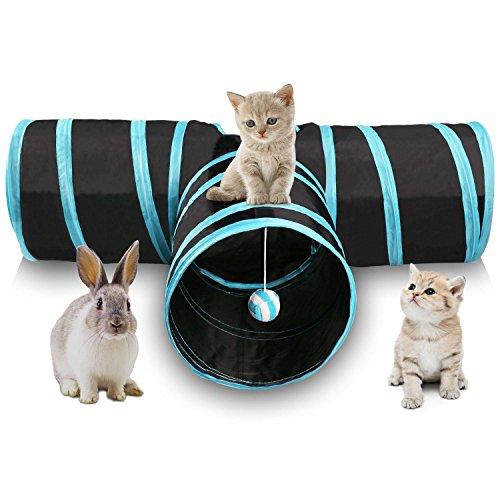 * SODIAL es una marca registrada. Solo el vendedor autorizado de SODIAL puede vender los productos de SODIAL. Nuestros productos va a mejorar su experiencia de la inspiracion sin igual. SODIAL(R) Tunel de gato de 3 maneras Juego de gato plegable para...