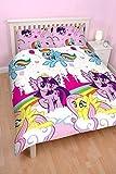 Mon Petit Poney Equestria Housse de couette et taie d'oreiller pour lit double avec impressions répétitives