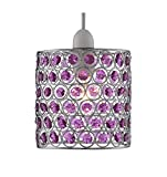Lighting Collection 700047 60 Watt Non-Electrified Pendant, Chrome/Purple