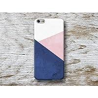 Rosa Blau Marine geometrisch Handy Hülle Handyhülle für Samsung Galaxy S8 Plus S7 S6 Edge S5 S4 mini A3 A5 J5 2016 2017 Note 4 5 Core Grand Prime