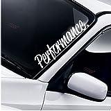 Performance Windschutzscheibe Heckscheibe Frontscheibe Aufkleber Turbo Drift JDM Tuning Auto Frontscheibenaufkleber