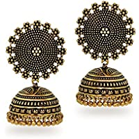 Jaipur Mart Jhumki Earrings for Women (Golden)(GSE247GLD)