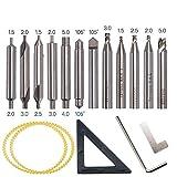 12pcs hss fraise foret mis en pièces de rechange pour les outils de serrurier, coupe verticale machine foret cutter