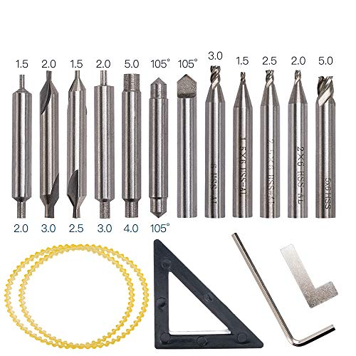 12pcs HSS broca fresadora vertical Set herramientas