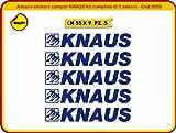 Aufkleber Sticker Wohnwagen z.B. Knaus Komplettset Sticker–(ist möglich anpassen die Farben) -caravanes Cod. 0050