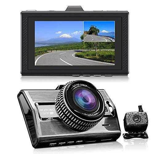 HQBKing Dual DashCam Vorder- und Rückseite Full HD Auto Kamera 1080P Front 170 ° Weitwinkel und hinten 140 ° Nachtsicht ADAS G-Sensor Unterstützung 128 GB