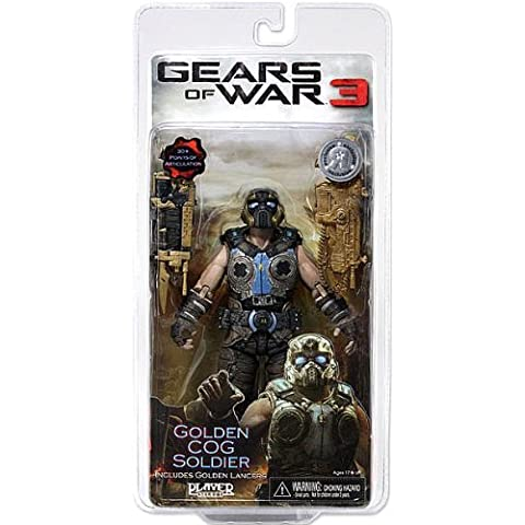 Gears of War 3 Exclusive Golden Cog Soldier with Golden Lancers by Gears of War