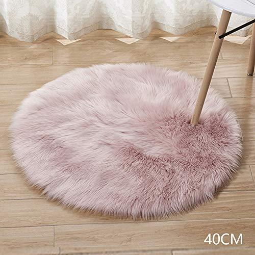 Alfombra de Pelo Suave para decoración del hogar, tapete Redondo para