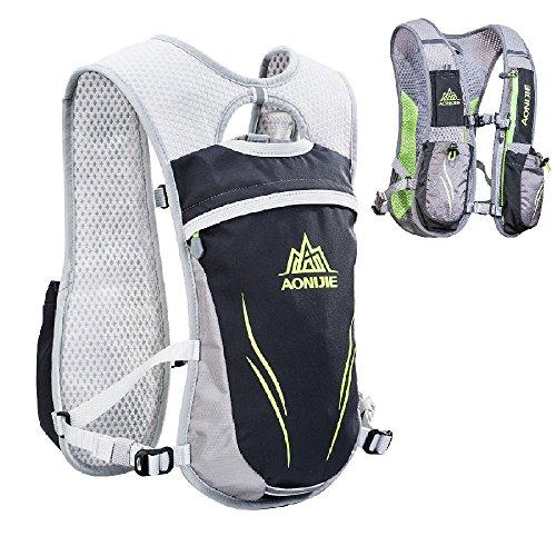 Triwonder Hydration Pack Backpack 5,5 L Outdoor Mochilas Trail Marathoner Gara da corsa Gara da idratazione (Grigio - Solo Vest)