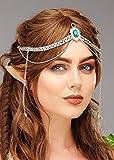 Magic Box Elfe Princesse Vert Bijou Couronne en Argent