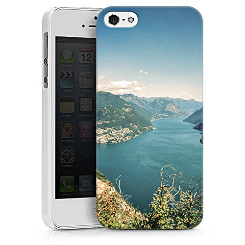 Apple iPhone 8 Plus Silikon Hülle Case Schutzhülle Landschaft Fluss Berge Hard Case weiß
